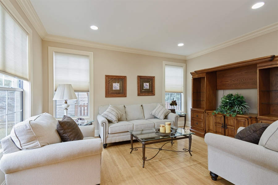 Real Estate Photography - 720 Foxmoore, Lake Zurich, IL, 60047 - Living Room