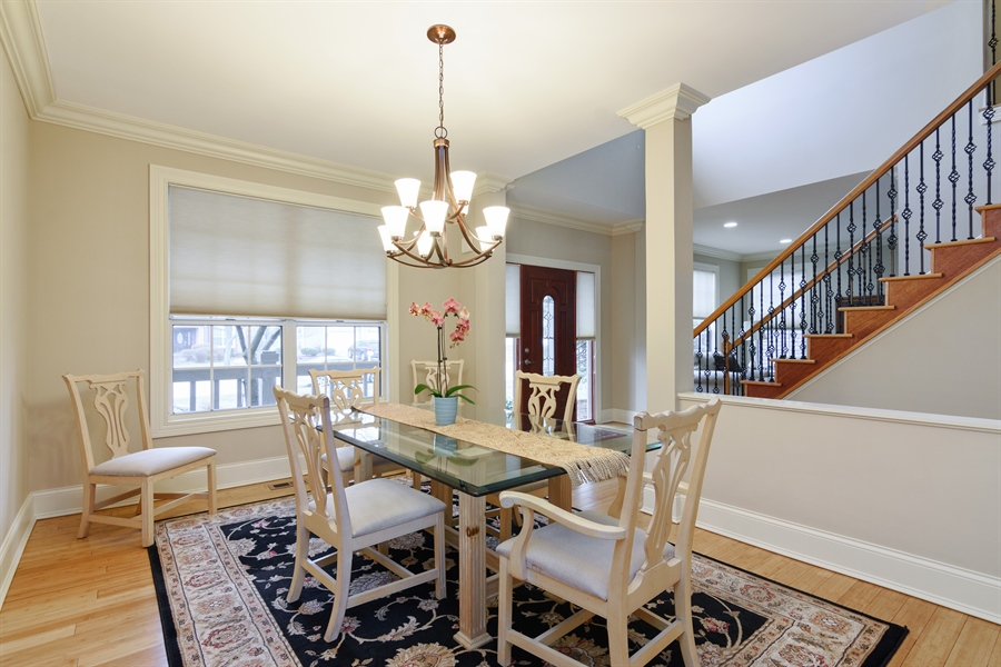 Real Estate Photography - 720 Foxmoore, Lake Zurich, IL, 60047 - Foyer/Dining Room