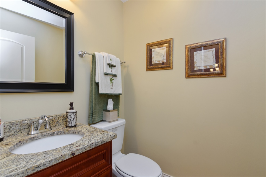 Real Estate Photography - 720 Foxmoore, Lake Zurich, IL, 60047 - Powder Room