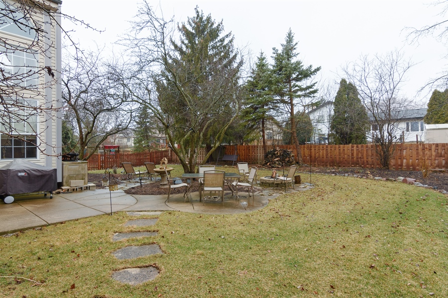 Real Estate Photography - 720 Foxmoore, Lake Zurich, IL, 60047 - Back Yard