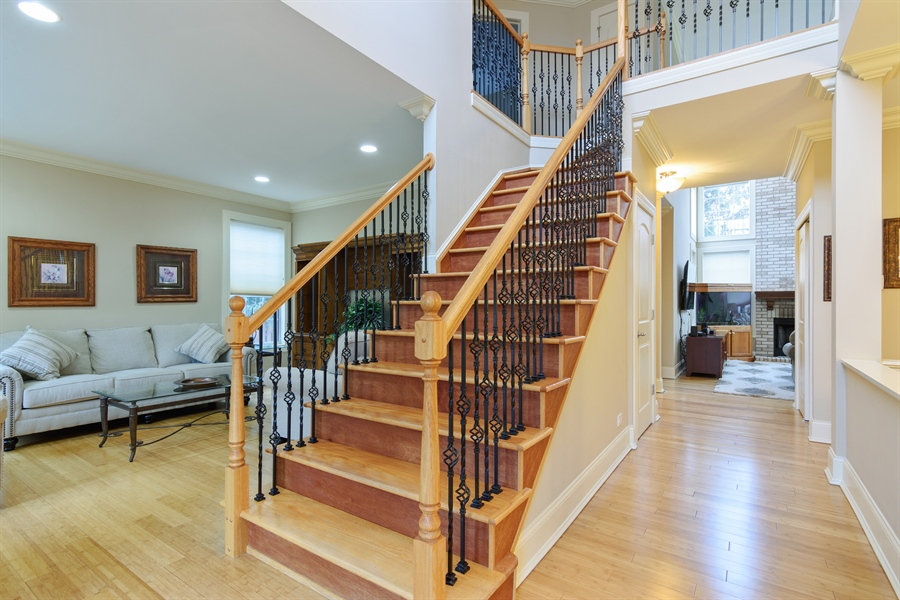 Real Estate Photography - 720 Foxmoore, Lake Zurich, IL, 60047 - Foyer
