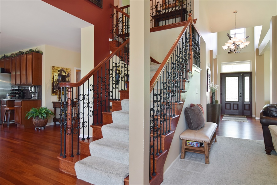 Real Estate Photography - 5485 Nicholson Dr., Hoffman Estates, IL, 60192 - Staircase