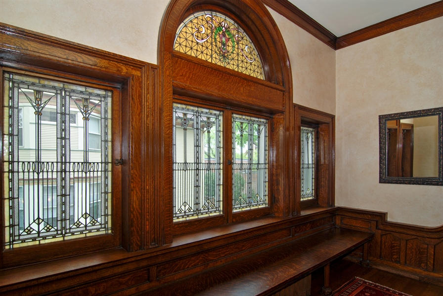 Real Estate Photography - 422 Forest Avenue, Oak Park, IL, 60302 - First Floor Landing with Seating