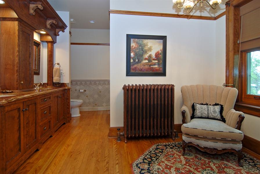 Real Estate Photography - 422 Forest Avenue, Oak Park, IL, 60302 - Master Bathroom Sitting Area/Dressing Room