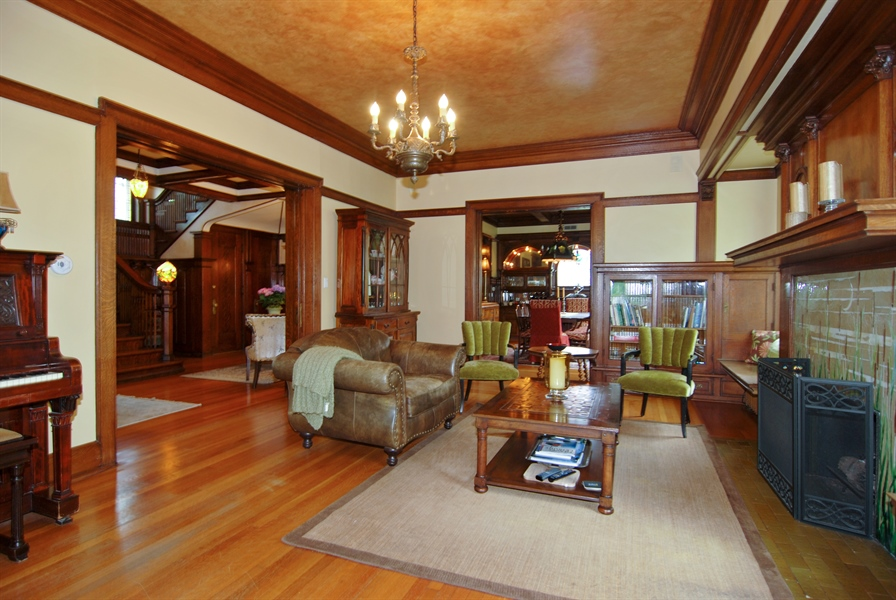 Real Estate Photography - 422 Forest Avenue, Oak Park, IL, 60302 - Living Room to Formal Dining Room
