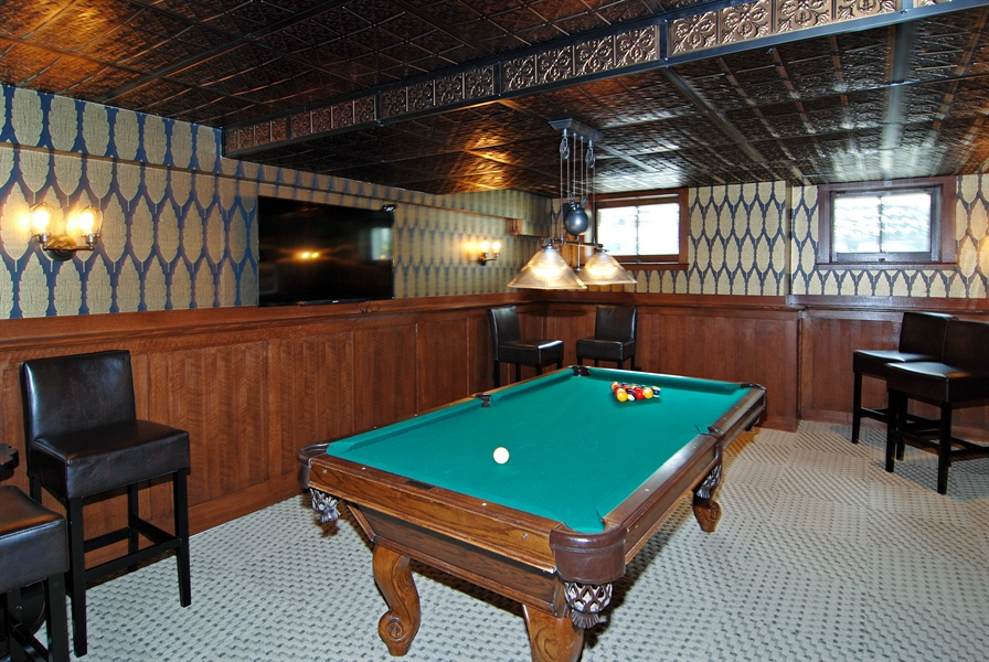 Real Estate Photography - 422 Forest Avenue, Oak Park, IL, 60302 - Pool Room