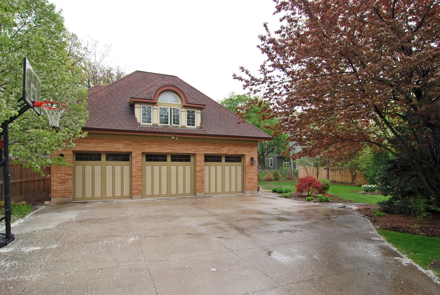 Real Estate Photography - 422 Forest Avenue, Oak Park, IL, 60302 - New 3-Car Garage with One Bedroom Apartment