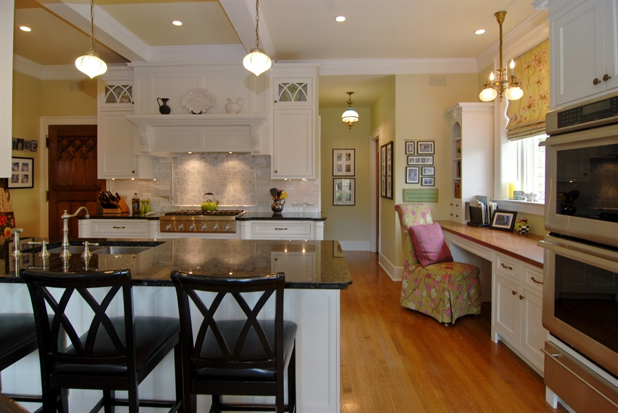 Real Estate Photography - 422 Forest Avenue, Oak Park, IL, 60302 - Kitchen Breakfast Bar and Home Organization Area