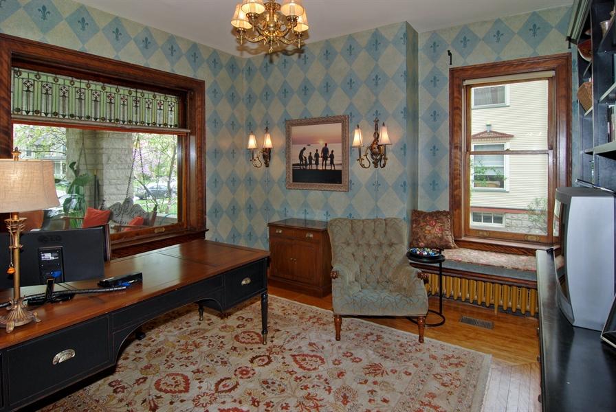 Real Estate Photography - 422 Forest Avenue, Oak Park, IL, 60302 - Front Parlor/Den