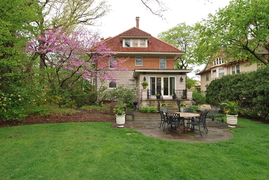 Real Estate Photography - 422 Forest Avenue, Oak Park, IL, 60302 - Rear of Home & Back Porch with Patio