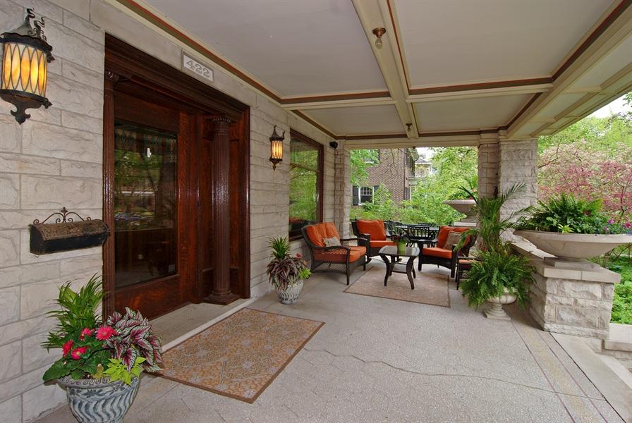 Real Estate Photography - 422 Forest Avenue, Oak Park, IL, 60302 - Front Porch & Entryway