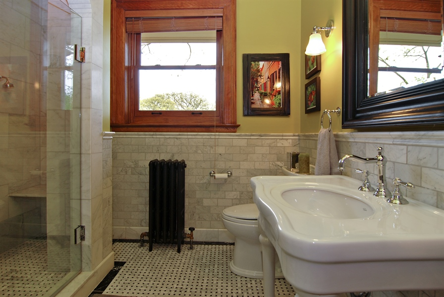 Real Estate Photography - 422 Forest Avenue, Oak Park, IL, 60302 - Second Floor Bathroom