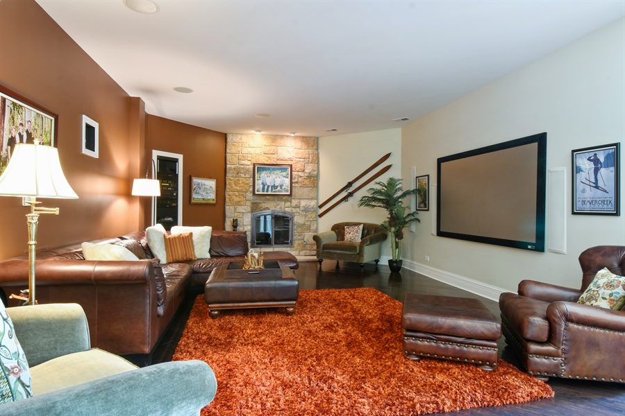 Real Estate Photography - 38 Wescott Dr, South Barrington, IL, 60010 - Media Room