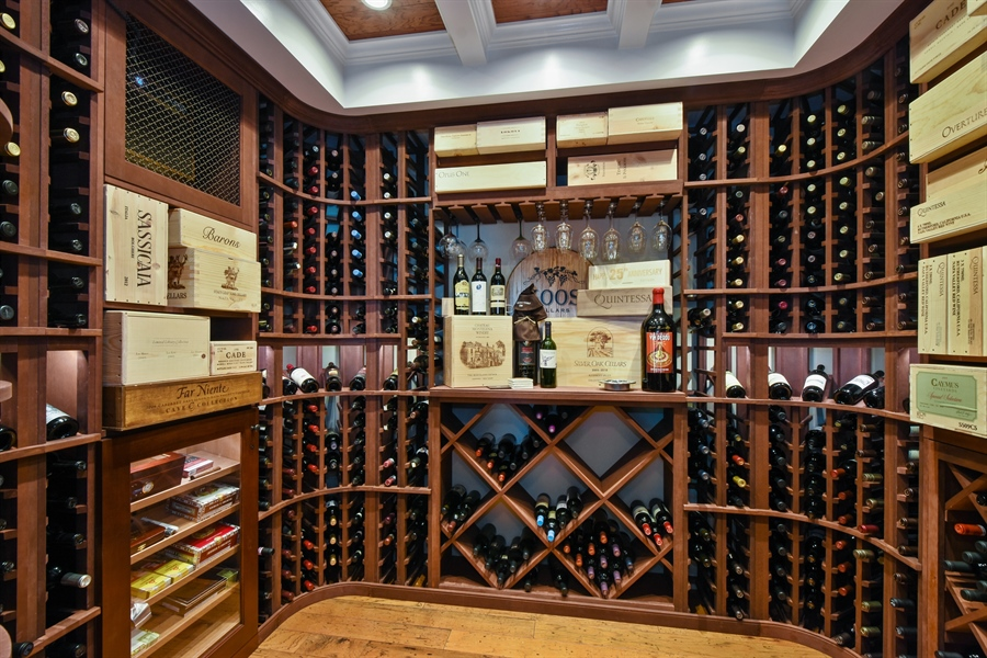 Real Estate Photography - 38 Wescott Dr, South Barrington, IL, 60010 - Wine Cellar