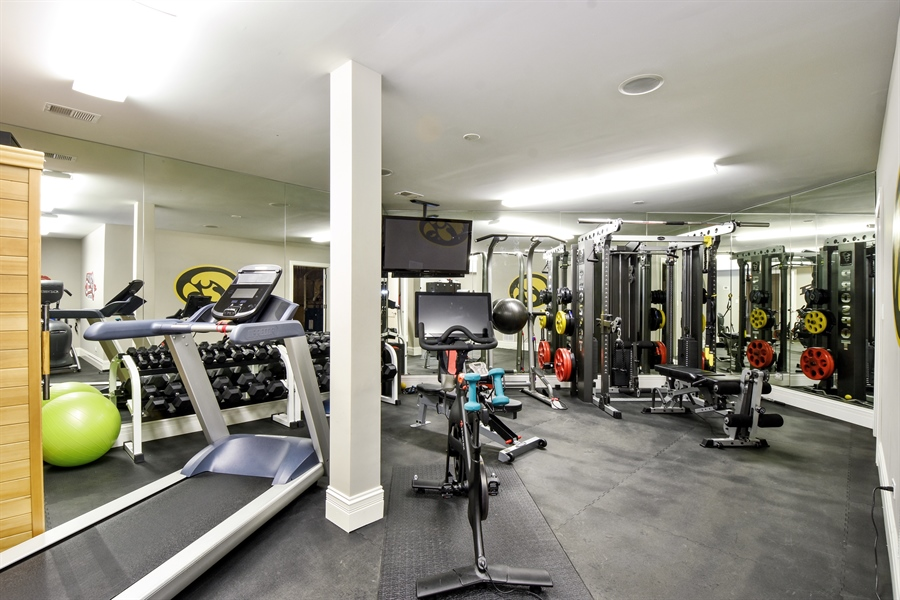Real Estate Photography - 38 Wescott Dr, South Barrington, IL, 60010 - Fitness Room