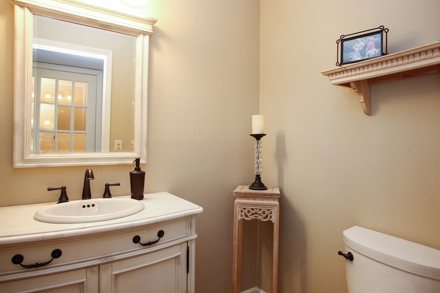 Real Estate Photography - 2808 Mill Creek Ln., Rolling Meadows, IL, 60008 - Powder Room