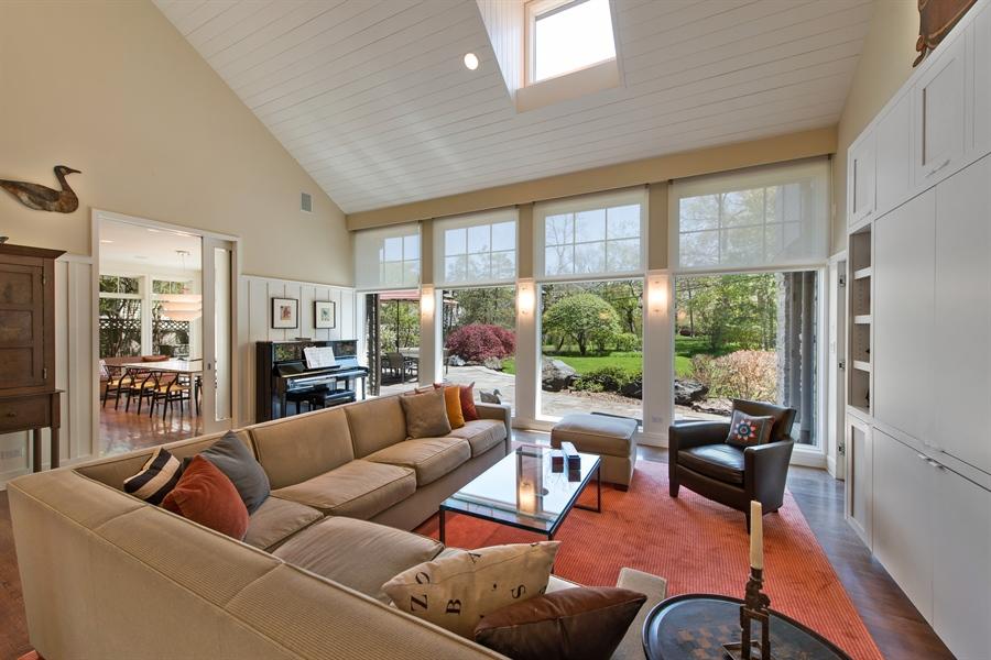 Real Estate Photography - 136 Beach, Glencoe, IL, 60022 - Living Room