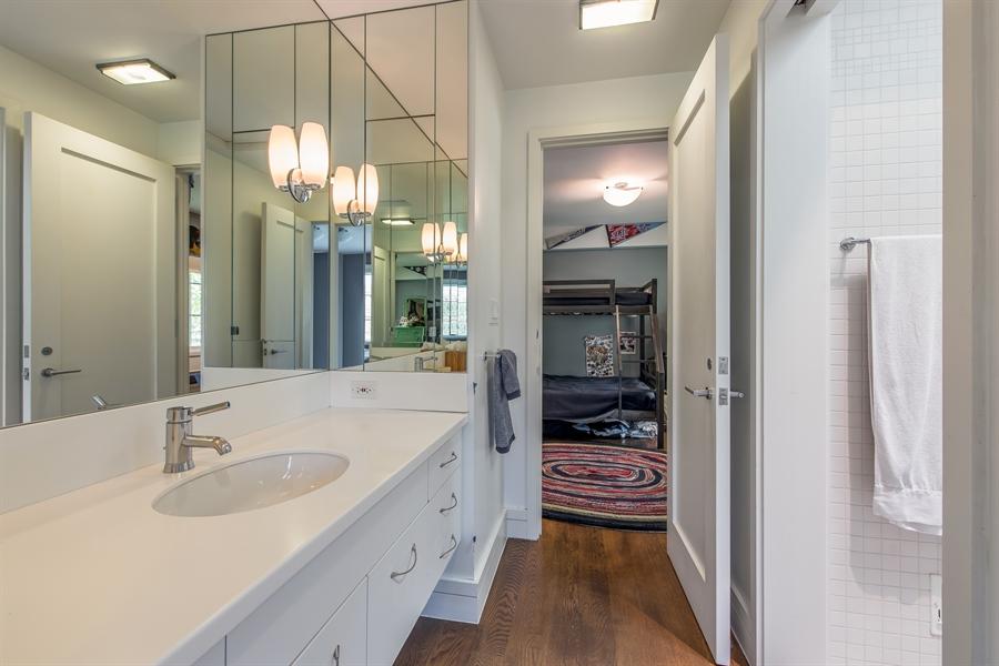 Real Estate Photography - 136 Beach, Glencoe, IL, 60022 - 3rd Bathroom