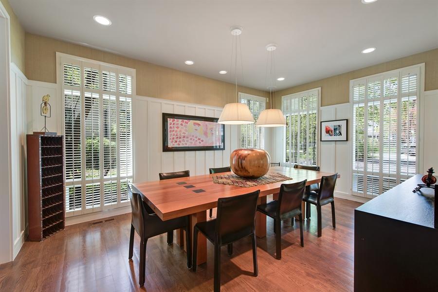 Real Estate Photography - 136 Beach, Glencoe, IL, 60022 - Dining Room