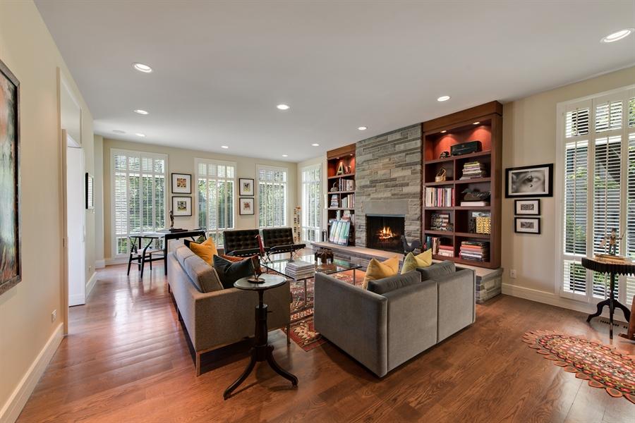 Real Estate Photography - 136 Beach, Glencoe, IL, 60022 - Family Room