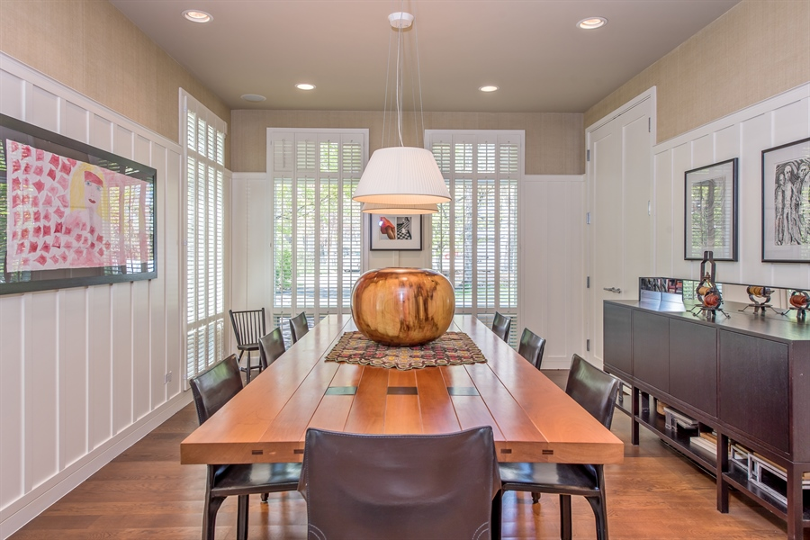 Real Estate Photography - 136 Beach, Glencoe, IL, 60022 - Dining Area