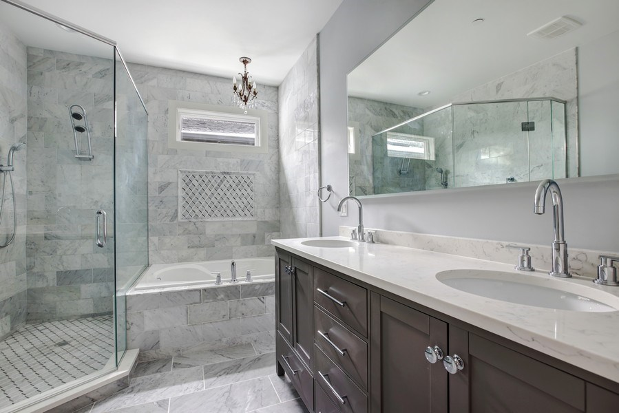 Real Estate Photography - 2662 N Marshfield Ave, Chicago, IL, 60614 - Master Bathroom