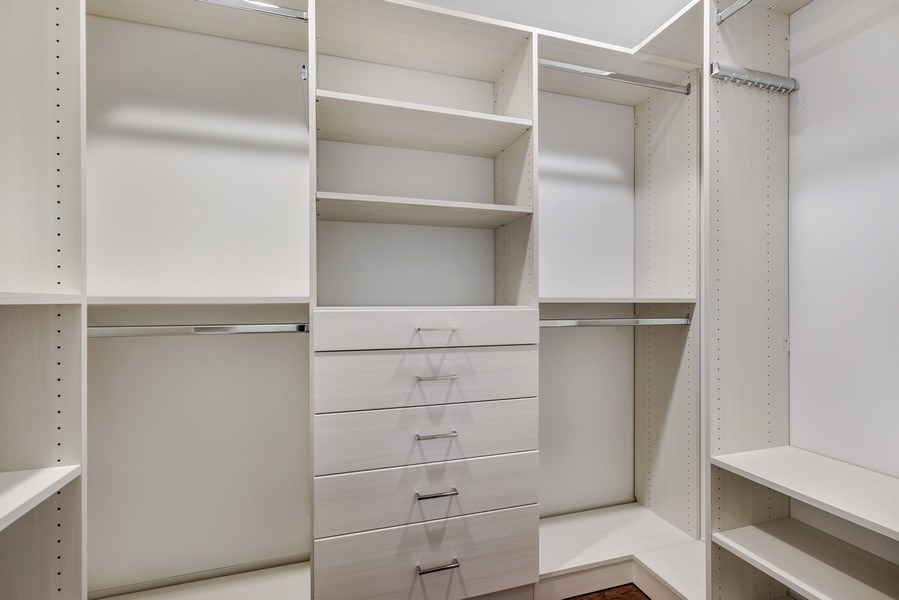 Real Estate Photography - 2662 N Marshfield Ave, Chicago, IL, 60614 - Master Bedroom Closet