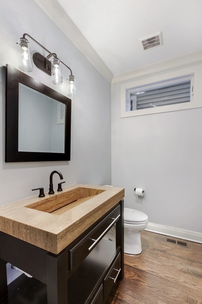 Real Estate Photography - 2662 N Marshfield Ave, Chicago, IL, 60614 - Half Bath