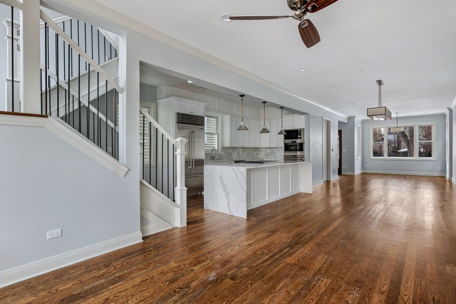 Real Estate Photography - 2662 N Marshfield Ave, Chicago, IL, 60614 - Family Room / Kitchen