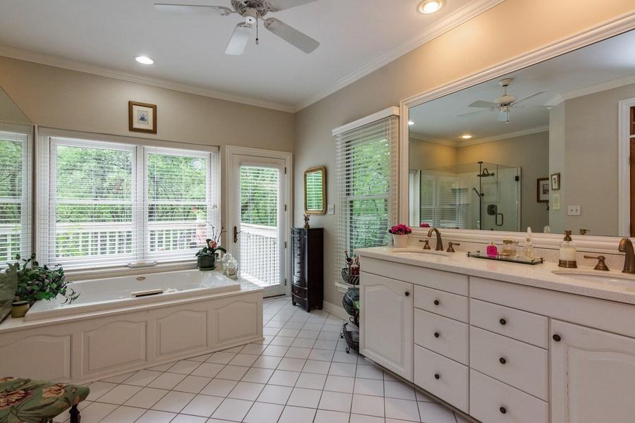 Real Estate Photography - 1 Burning Oak Trail, Barrington Hills, IL, 60010 - Master Bath with whirlpool tub