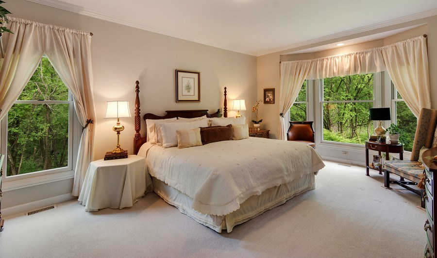 Real Estate Photography - 1 Burning Oak Trail, Barrington Hills, IL, 60010 - First floor Master Bedroom Suite