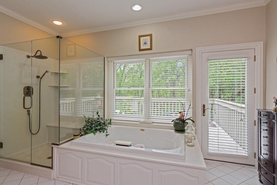 Real Estate Photography - 1 Burning Oak Trail, Barrington Hills, IL, 60010 - Master Bedroom Luxury Bath