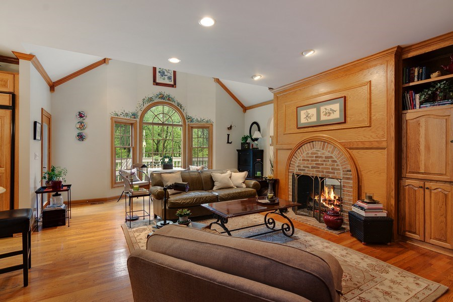 Real Estate Photography - 1 Burning Oak Trail, Barrington Hills, IL, 60010 - Hearth Room / eating area off kitchen