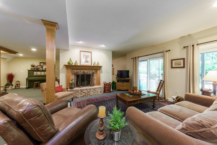 Real Estate Photography - 1 Burning Oak Trail, Barrington Hills, IL, 60010 - Open Family room in walk out basement