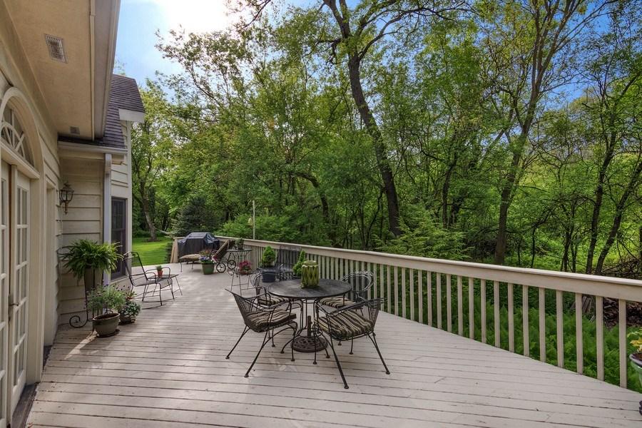 Real Estate Photography - 1 Burning Oak Trail, Barrington Hills, IL, 60010 - Wonderful deck for summer enjoyment