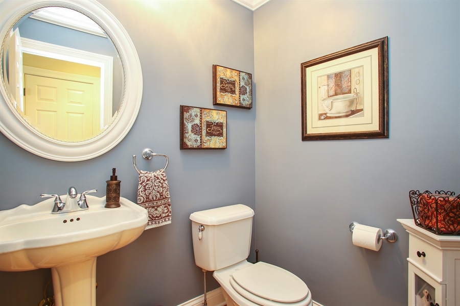 Real Estate Photography - 5408 Groveside Ln., Rolling Meadows, IL, 60008 - Powder Room