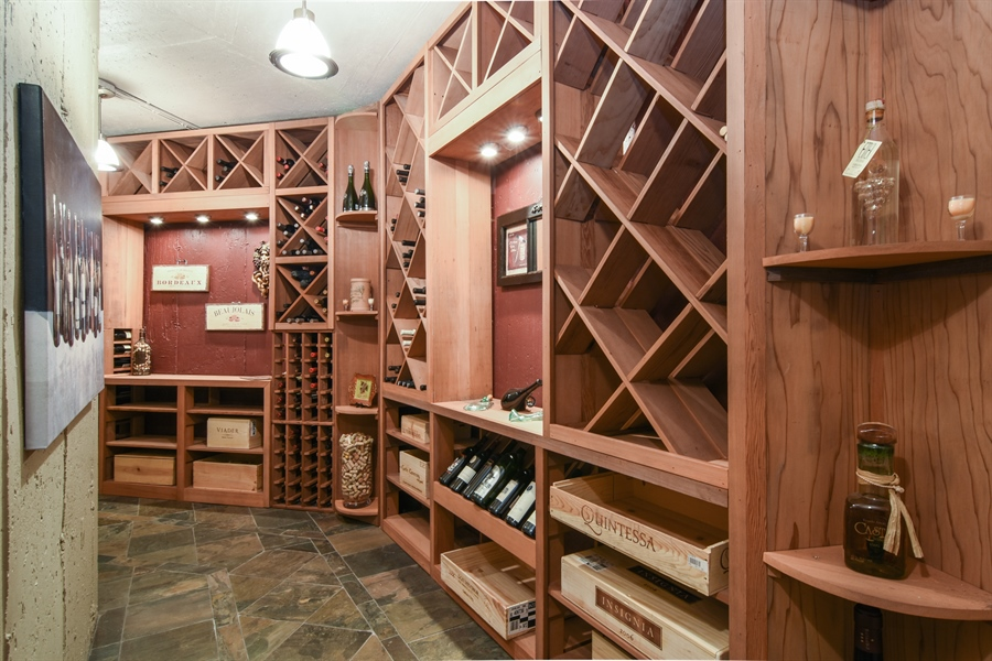 Real Estate Photography - 848 W Kenilworth, Palatine, IL, 60067 - Wine Cellar