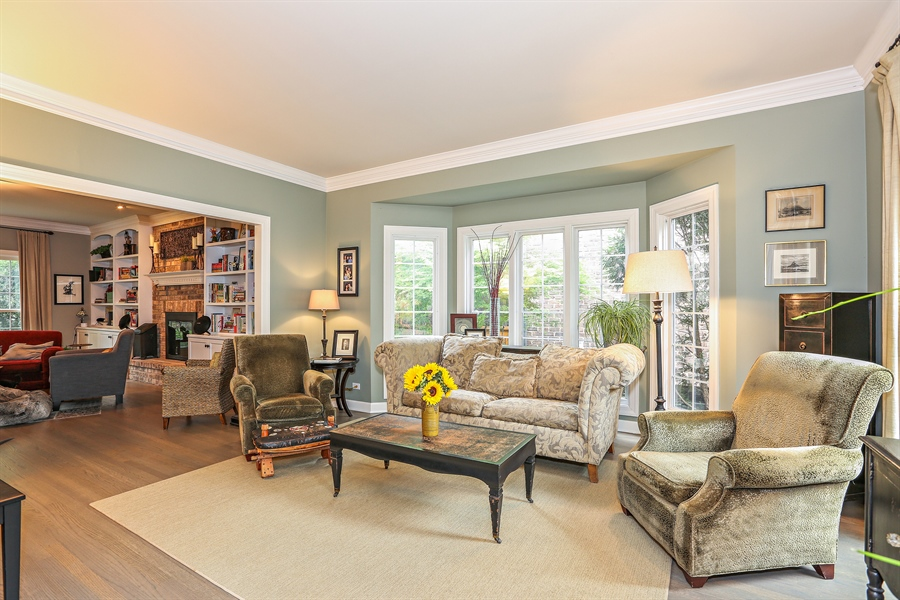 Real Estate Photography - 261 Walker Ave., Clarendon Hills, IL, 60514 - Living Room (alternate view)