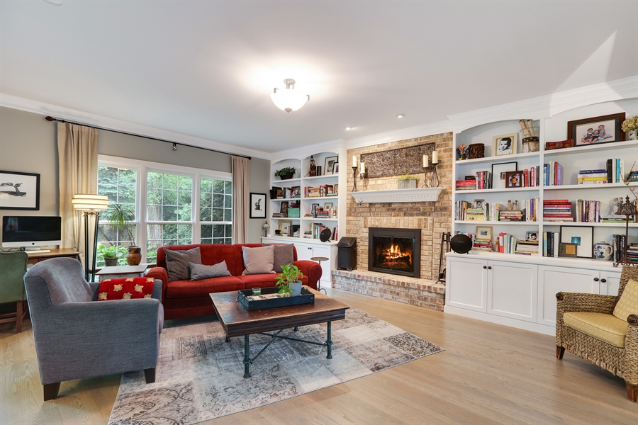 Real Estate Photography - 261 Walker Ave., Clarendon Hills, IL, 60514 - Family Room