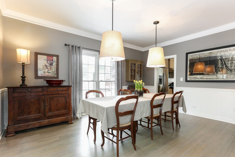 Real Estate Photography - 261 Walker Ave., Clarendon Hills, IL, 60514 - Dining Room