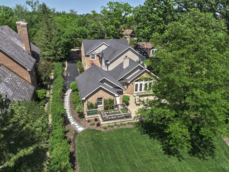 Real Estate Photography - 110 Glenwood, Winnetka, IL, 60093 - Aerial View