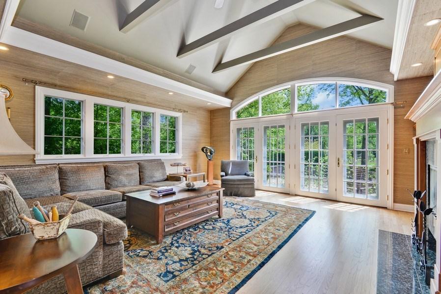 Real Estate Photography - 110 Glenwood, Winnetka, IL, 60093 - Family Room