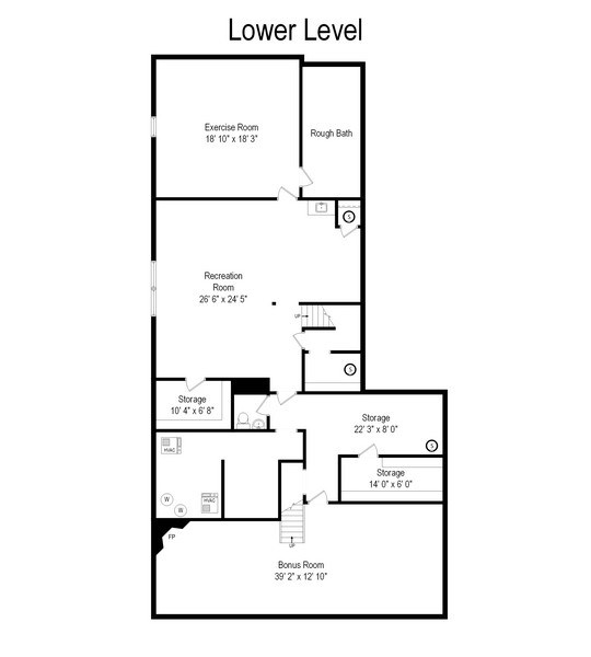 Real Estate Photography - 110 Glenwood, Winnetka, IL, 60093 - Floor Plan