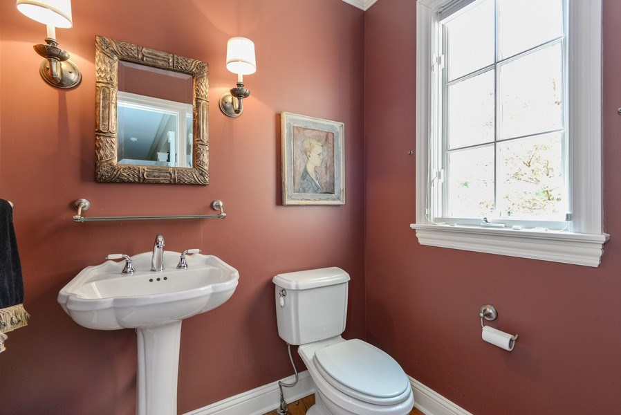 Real Estate Photography - 110 Glenwood, Winnetka, IL, 60093 - Half Bath
