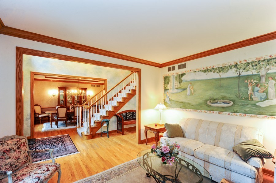 Real Estate Photography - 6334 Tennessee Ave., willowbrook, IL, 60527 - Living Room/Dining Room