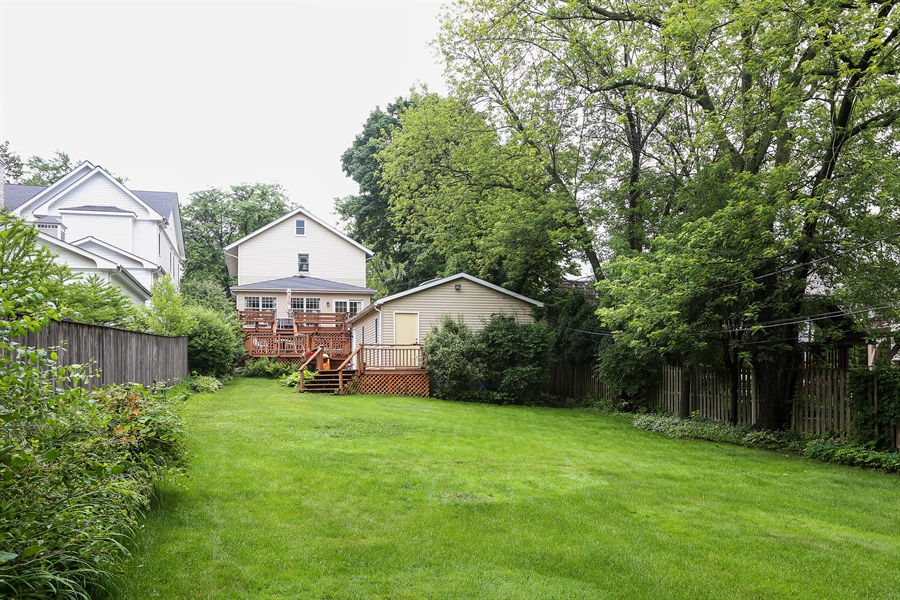 Real Estate Photography - 118 N. Monroe St., Hinsdale, IL, 60521 - Back of Home / Yard