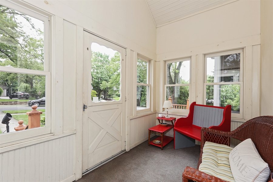 Real Estate Photography - 118 N. Monroe St., Hinsdale, IL, 60521 - Enclosed Front Porch