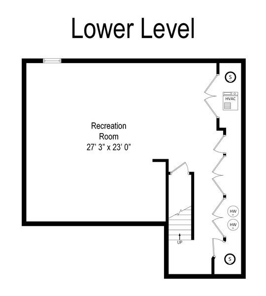Real Estate Photography - 118 Wellington, Northbrook, IL, 60062 - Floor Plan