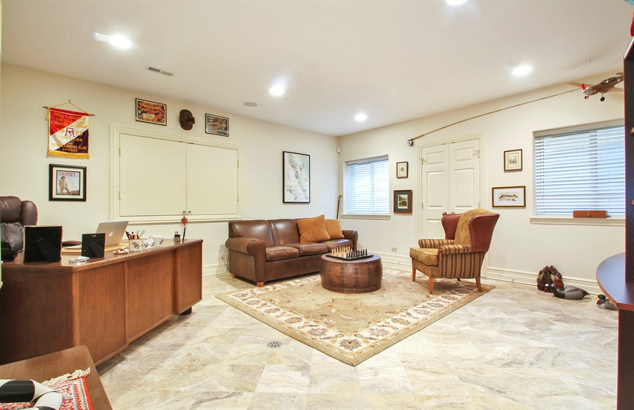 Real Estate Photography - 906 Queens, Glenview, IL, 60025 - Basement Office
