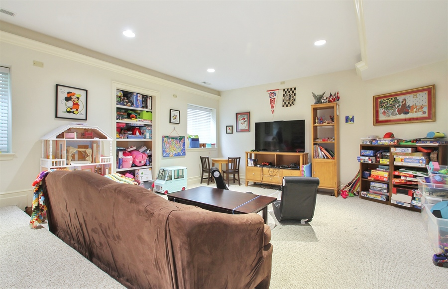 Real Estate Photography - 906 Queens, Glenview, IL, 60025 - Basement Theater Room